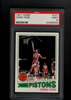 1977 Topps #121 Chris Ford PSA 9   DETROIT PISTONS