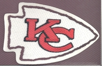 Kansas City Chiefs 5 inch embroidered Patch