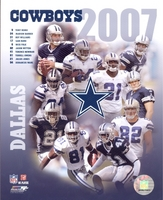 2007 Dallas Cowboys Composite 8X10 Glossy Photo by Photofile Romo Ware Owens