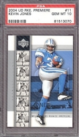 2004 Upper Deck Rookie Premiere #11 Kevin Jones (R) PSA 10 GEM MINT LIONS