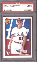 1991 Topps Traded #45T Jason Giambi (R) PSA 9 MINT Team USA