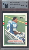 1989 Topps Traded #83T Barry Sanders (R) GAI  9 MINT LIONS