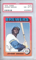 1975 Topps #123 Johnny Briggs PSA 8 NM-MT BREWERS
