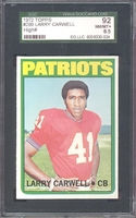 1972 Topps #299 Larry Carwell SGC 92 NM-MT 8.5 NEW ENGLAND PATRIOTS