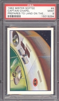 1962 Mister Softee Captain Chapel #4 Prepares to Land PSA 9 MINT