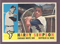1960 Topps #180 Harry Simpson NM  CHICAGO WHITE SOX crease free