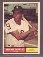1961 Topps #380 Minnie Minoso NM+ CHICAGO WHITE SOX crease free