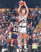Larry Bird shoots over Magic Johnson Celtics vs. Lakers 8X10 Photo by Photofile