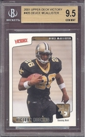2001 Upper Deck Victory #405 Deuce McAllister(R) BECKETT BVG 9.5 GEM MINT SAINTS