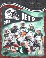2008 NY Jets Composite 8X10 Glossy Photo by Photofile Favre Revis Mangold Harris