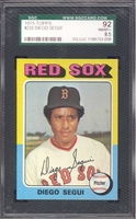 1975 Topps #232 Diego Segui  SGC 92 NM-MT+ 8.5 RED SOX