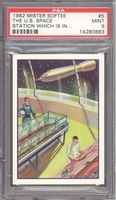 1962 Mister Softee Captain Chapel #5 The US Space Station PSA 9 MINT
