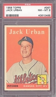 1958 Topps #367 Jack Urban PSA 8 NM-MT KANSAS CITY A'S