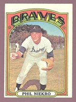 1972 Topps #620 Phil Niekro  EX+  ATLANTA BRAVES crease free
