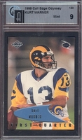 1999 Collectors Edge Odyssey #123 Kurt Warner (R) GAI  9 MINT RAMS