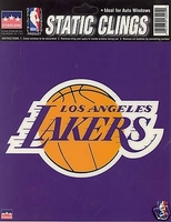 12 Los Angeles Lakers 6 inch Static Cling Stickers