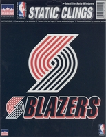 12 Portland Trail Blazers 6 inch Static Cling Stickers