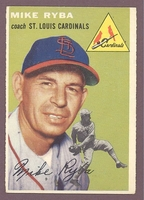 1954 Topps #237 Mike Ryba EX+ ST LOUIS CARDINALS crease free