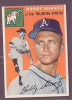 1954 Topps #21 Bobby Shantz EX-MT PHILADELPHIA ATHLETICS no creases