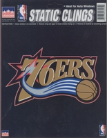 12 Philadelphia 76ers 6 inch Static Cling Stickers