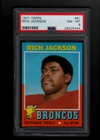 1971 Topps #081 Rich Jackson PSA 8 NM-MT   DENVER BRONCOS