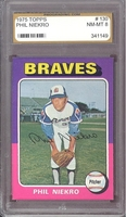 1975 Topps #130 Phil Niekro PGS 8 NM-MT BRAVES