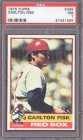 1976 Topps #365 Carlton Fisk PSA 7 NM BOSTON RED SOX
