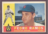 1960 Topps #175 Pedro Ramos EXMT/NM  WASHINGTON SENATORS crease free
