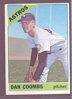 1966 Topps #414 Dan Coombs EXMT/NM  HOUSTON ASTROS crease free