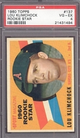 1960 Topps #137 Lou Klimchock PSA 4 VG-EX  KANSAS CITY ATHLETICS