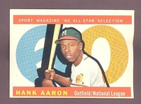 1960 Topps #566 Hank Aaron All Star  EX-MT+ MILWAUKEE BRAVES  no creases
