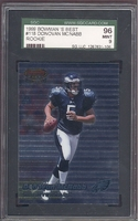 1999 Bowman's Best #118 Donovan McNabb ROOKIE SGC 96 MINT 9 PHILADELPHIA EAGLES