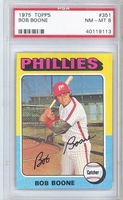 1975 Topps #351 Bob Boone PSA 8 NM-MT PHILLIES