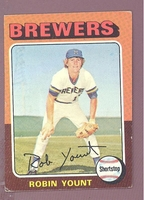 1975 Topps #223 Robin Yount (R) VG-EX Miscut MILWAUKEE BREWERS