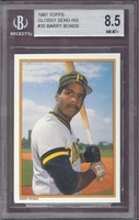1987 Topps AS Glossy #30 Barry Bonds (R) Beckett  8.5 NM/MT+ PIRATES