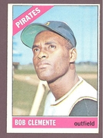 1966 Topps #300 Bob Clemente  EX-MT/NM  PITTSBURGH PIRATES no creases