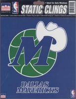 12 Dallas Mavericks 6 inch Static Cling Stickers