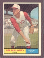1961 Topps #436 Jim Maloney EXMT/NM CINCINNATI REDS crease free