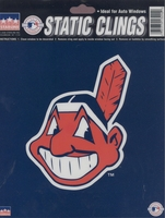 12 Cleveland Indians 6 inch Static Cling Stickers