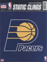 12 Indiana Pacers 6 inch Static Cling Stickers