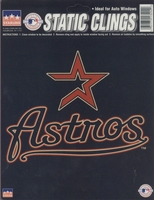 12 Houston Astros 6 inch Static Cling Stickers