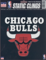 12 Chicago Bulls 6 inch Static Cling Stickers
