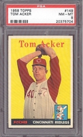1958 Topps #149 Tom Acker PSA 8 NM-MT CINCINNATI REDS