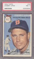 1954 Topps #19 Johnny Lipon PSA 7 nm Baltimore Orioles