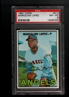 1967 Topps #513 Marcelino Lopez PSA 8 NM-MT CALIFORNIA ANGELS