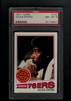1977 Topps #100  Julius Erving  PSA 8 NM-MT   PHILADELPHIA 76ERS