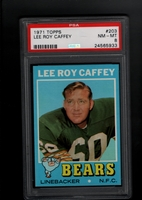 1971 Topps #203 Lee Roy Caffey PSA 8 NM-MT   CHICAGO BEARS