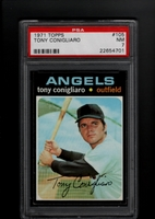 1971 Topps #105 Tony Conigliaro PSA 7 NM CALIFORNIA ANGELS