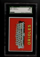 1967 Topps #302 Orioles Team SGC 88 NM-MT 8 BALTIMORE ORIOLES