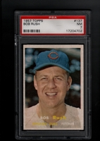 1957 Topps #137 Bob Rush PSA 7 NM CHICAGO CUBS